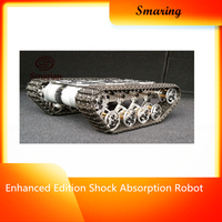 Official smarian Enhanced Edition Shock Absorption Robot Tracked Tank Car Chassis Crawler Climbing Obstacle Caterpillar Model