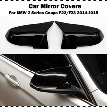For BMW 2 series coupe 220i 228i M235i M240i F22 2014-2018 F23 convertible ABS gloss black mirror covers side wing cap 2 pcs электромобили hebei bmw 2 series coupe