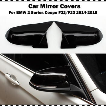 For BMW 2 series coupe 220i 228i M235i M240i F22 2014-2018 F23 convertible ABS gloss black mirror covers side wing cap 2 pcs