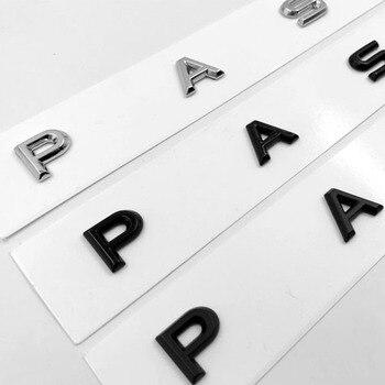 3D Font Letters Emblem for PASSAT Car Styling Refitting Middle Trunk Logo Badge Sticker for VW Chrome Matte Black Glossy Black обещанная