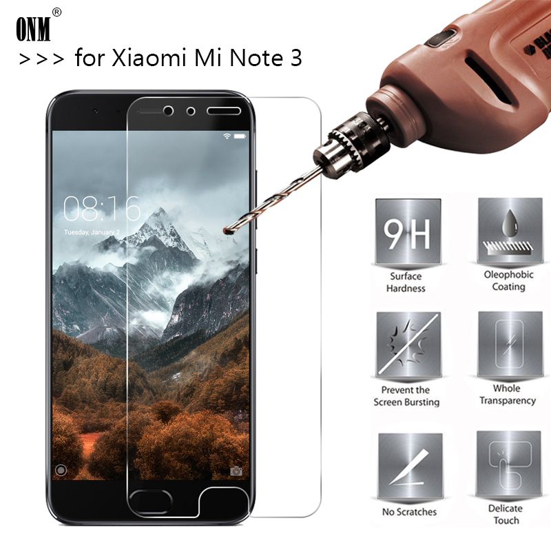 2.5D 0.26mm 9H Premium Tempered Glass For Xiaomi Mi Note 3 Note3 5.5 Inch Screen Protector Toughened Protective Film