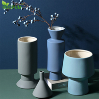 Nordic Modern Style Ceramic Vase Simple Living Room Bedroom Porch Decoration Gardening Home Christmas Decoration Supplies