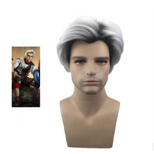 Movie Descendants 2 cosplay Carlos Black and white gradient wig male Halloween F