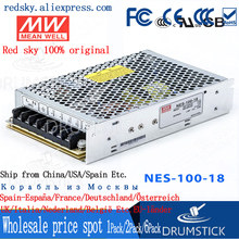 цена на 100% Original MEAN WELL NES-100-18 18V 5.5A meanwell NES-100 18V 105W Single Output Switching Power Supply [Real6]