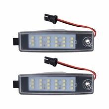 2pcs 18 LED License Number Plate Light For Toyota HiAce 05-11 Rav 4 Vanguard