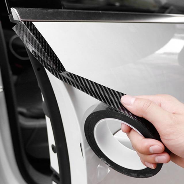 5D 車のステッカー炭素繊維ビニール 3D ステッカー防水フィルム自動車ドアバンパープロテクター室内装飾アクセサリー