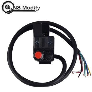 NS Modify 7/8 Universal Motorcycle Handlebar Left Headlight Turn Signal Horn Switch Mount Push Button Part