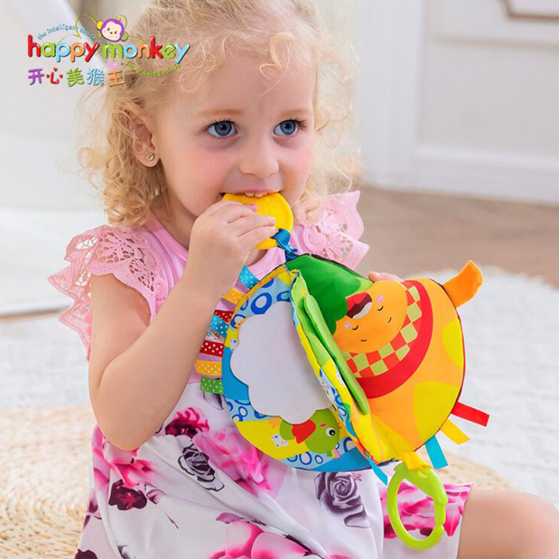 Newborn Soft Plush Hand Grasp Baby Toys 0-12 Months Baby Cloth Boob Book Toys Intelligence Development Educational Toy for Gift
