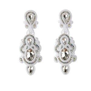 Image 2 - KPacTa Fashion Handmade Big Earrings Inlaid Ethnic Style Jewelry Ladies Crystal Decorative Accessories Pendant Earrings