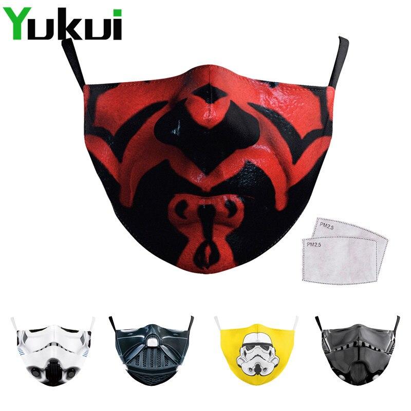 Многоразовые моющиеся маски для рта с мультипликационным принтом Забавный дизайн Модная маска Пылезащитная маска для лица PM2.5 фильтр Mondmaskers|Женские маски|   | АлиЭкспресс