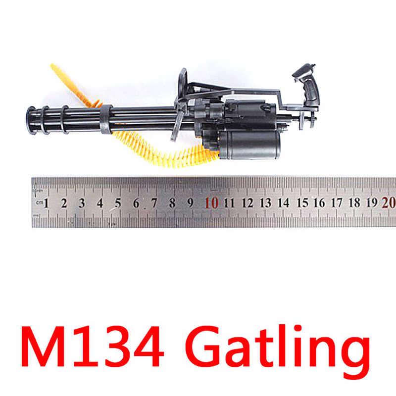12 بوصة شخصيات الحركة M134 غاتلينغ مينيغون المنهي رصاصة حزام هدية للأطفال 1/6 مقياس + T800 البنادق الرشاشة الثقيلة
