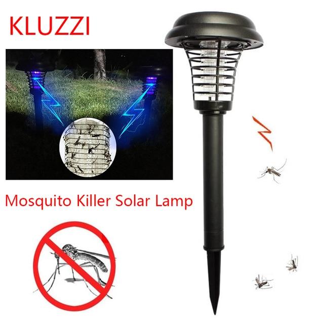 KLUZZI Solar Mosquito Killer Powered LED Light Lighting Mosquito Repellent Pest Bug Zapper Insect Killer Lamp Garden Outdoor