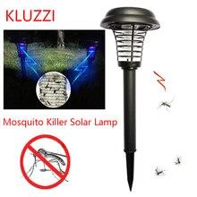 KLUZZI الشمسية البعوض القاتل بالطاقة مصباح ليد الإضاءة البعوض طارد الحشرات علة صاعق مبيد حشري مصباح حديقة في الهواء الطلق