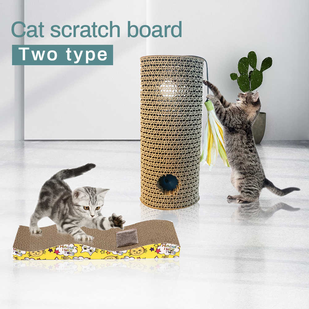 Carta ondulata Cat Scratcher Gattino Gatto Che Graffia Pad Bordo di Zerbino Scratcher Pet Gatti Gioco Graffi Accessori