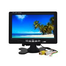 7 Inch Car Headrest Display Monitor Rear View Display And Wifi Rearview Reverse Backup Camera Car Tv Display(China)