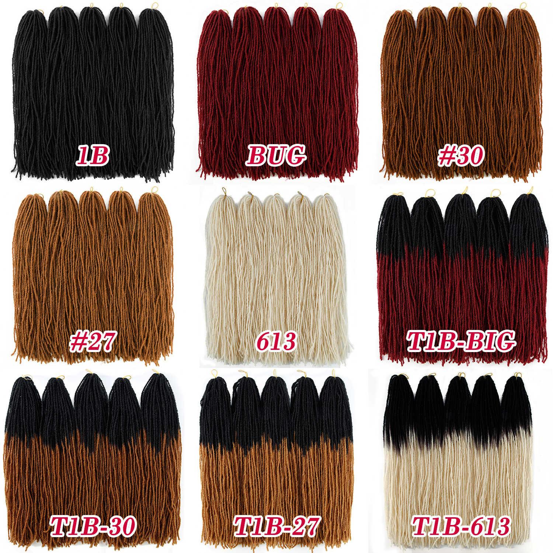 Sister Locks искусственные локоны в стиле Crochet волосы для наращивания Омбре чистый цвет 18 дюймов блонд коричневый Жук синтетические волосы для женщин крючком косы