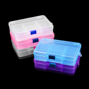 цена на 1pcs Good Quality 5 Grids Necklace Beads Earring Case Organizer Plastic Jewelry Accessories Storage for DIY