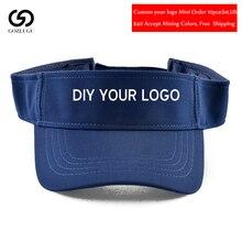 New Visor Caps Women Open Tops Customized Adjustable Hats LOGO Printing Candy Color Adult Baseball Sun 10pcs/lot