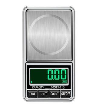 USB Charging waga kuchenna 500g 0 01g 0 1g elektroniczny LCD cyfrowa skala wysoka precyzja biżuteria kieszonkowa waga skala balansu tanie i dobre opinie OOTDTY NONE CN (pochodzenie) Waga ławki USB charging or 2 x AAA bateries (not included) 6 5x12cm 2 56x4 72inch USB Charging Pocket Scale
