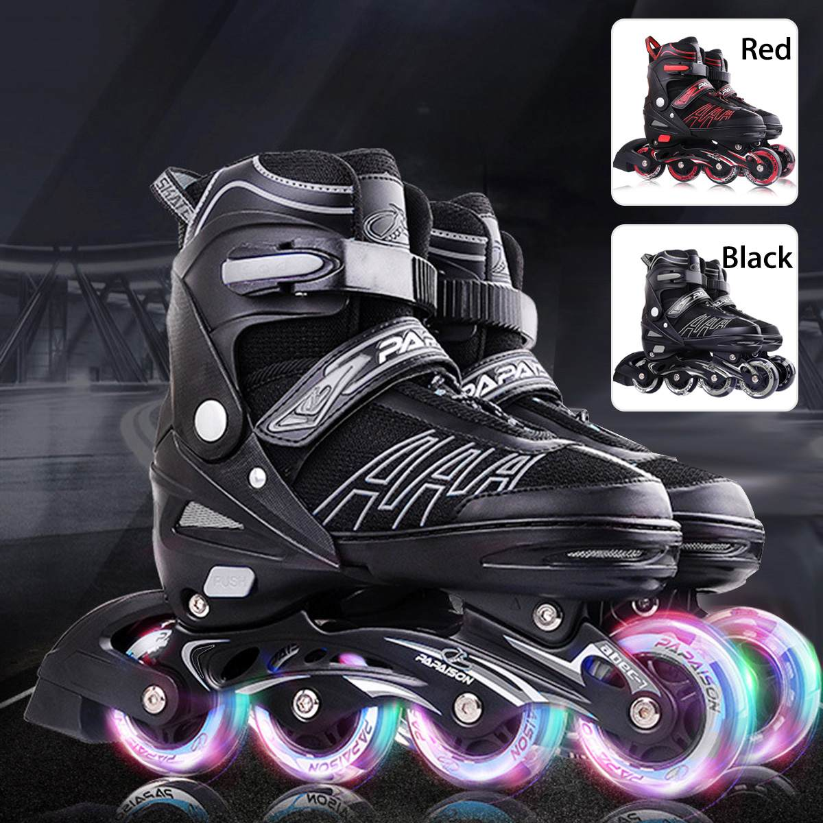 Professional Roller Skates Roller Skates Girls Boys Beginner Kids Four Wheels Single Row Flat Shoes Flash Skates Inline Skates
