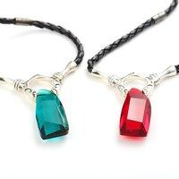 Vintage Game Necklace Real 925 Sterling Silver Women Men Crystal Pendant Necklaces