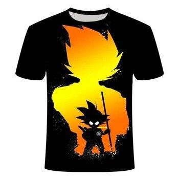 New Dragon Ball Boy 3D Printing T-shirt Short Sleeve Round Neck Shirt Unisex Summer Dragon Ball Z Children's Small Size dragon ball z t shirt men fashion summer men short sleeve shirt 100