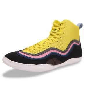 Профессиональная боксерская обувь, мужские дышащие боксерские тренировочные ботинки, легкая обувь для борьбы, роскошные боксерские кроссо...