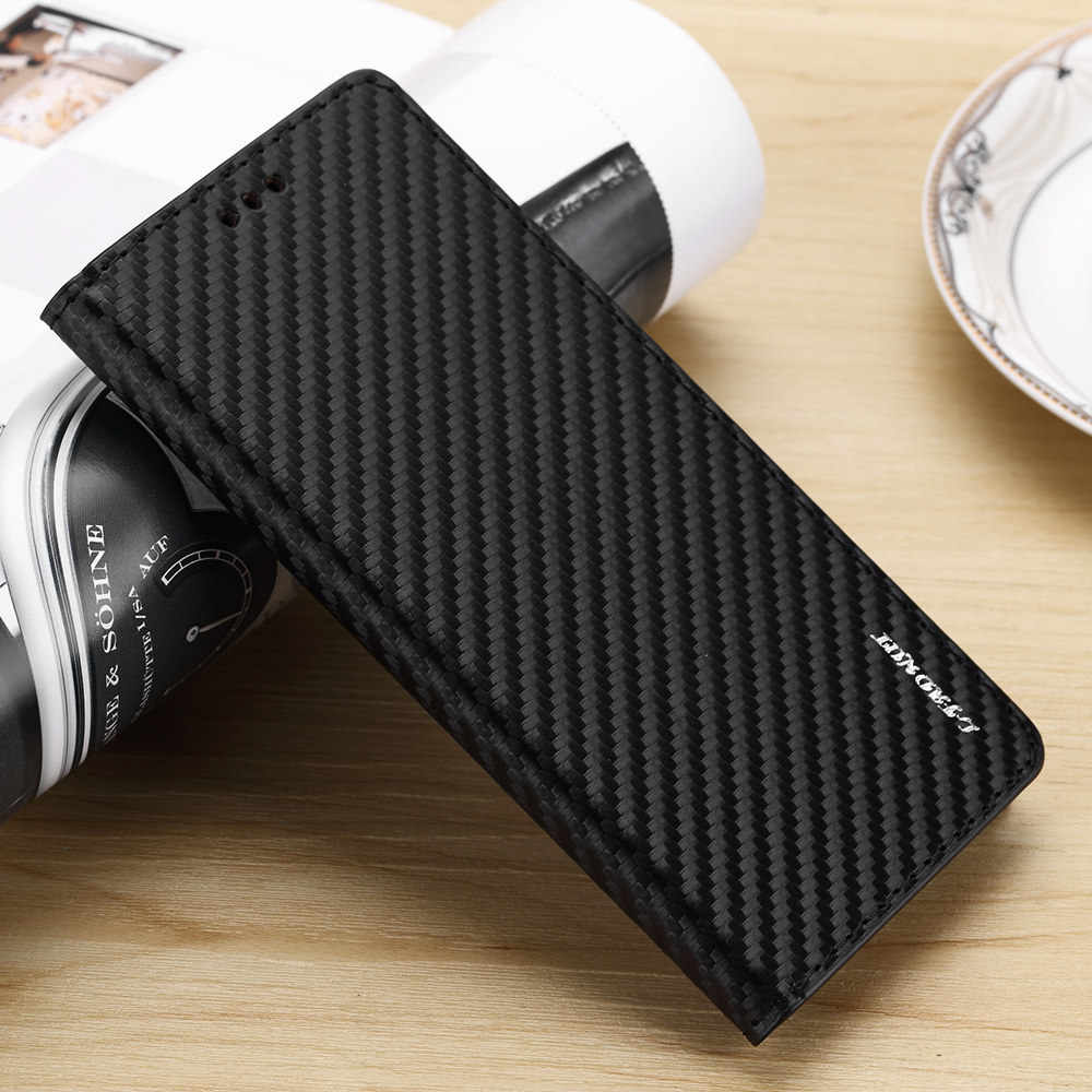 Magnetic Flip Wallet Case For Samsung S11 S11e S5 NEO S6 S7 edge Leather Kickstand For S10 S9 S8 Plus Cabon Fiber Slim Cover