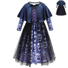 Childrens Vampire Halloween Super scary costumes Girls cosplay suit clothes  christmas dress