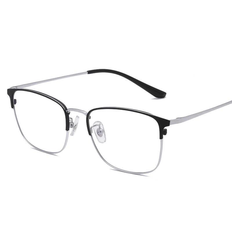 Veshion óculos de titânio quadro feminino óculos de olho quadrado quadros para masculino feminino bluelight vidro ultra claro claro óptica len