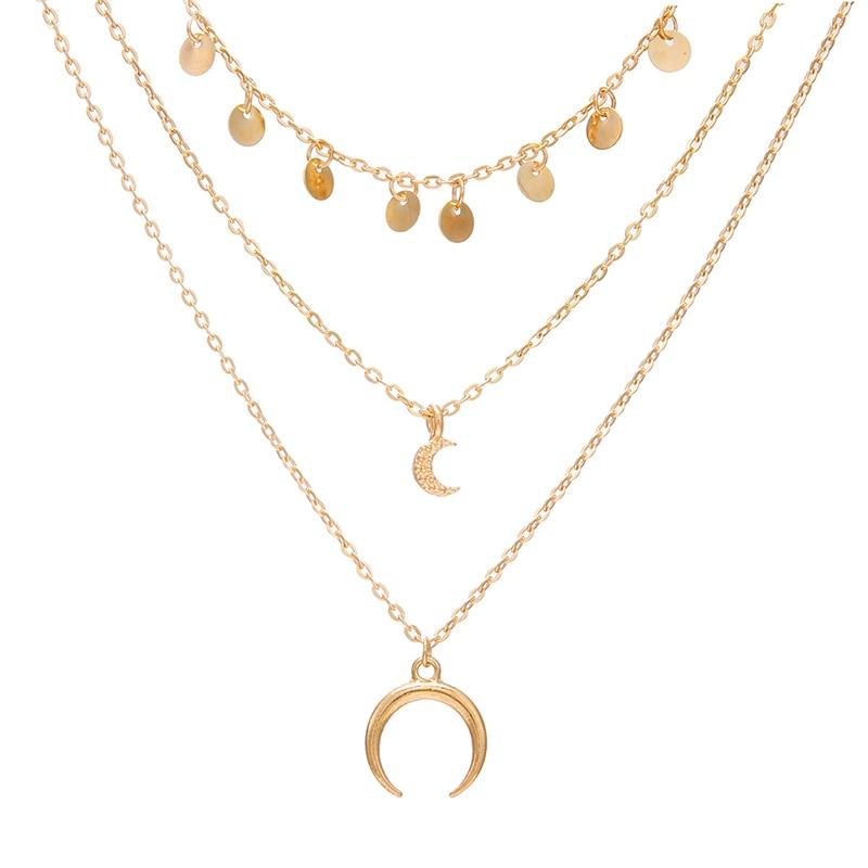 VKME модное жемчужное ожерелье с двойным слоем Love аксессуары Женское Ожерелье Bijoux подарки - Окраска металла: ZL0000888