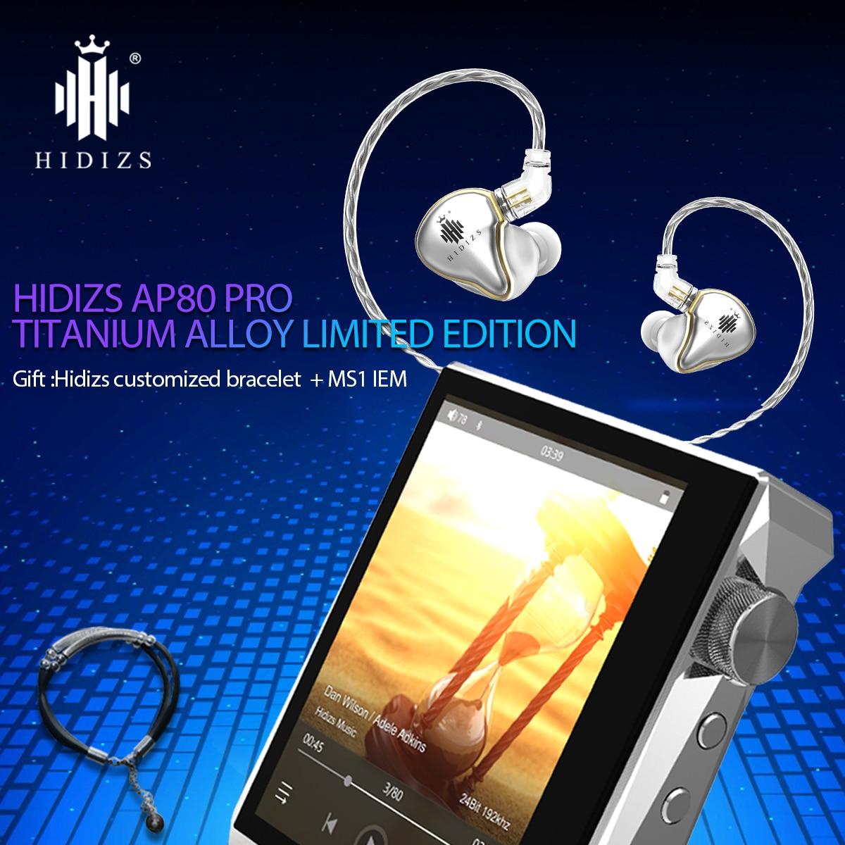 HIDIZS AP80 PRO титановый сплав ограниченный выпуск HiFi MP3 Bluetooth музыкальный плеер с FLAC LDAC USB DAC DSD 64/128 FM радио DAP