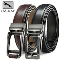 Ремень JACNAIP мужской с храповым механизмом, многоцветный автоматический Регулируемый из воловьей кожи, с металлической пряжкой, для джинсов