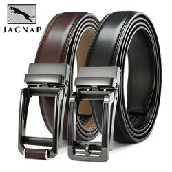 JACNAIP Ratchet Leather Mens belt Cowhide Jeans Multicolor Automatic adjustable Belts Metal Buckle Belts for Men ремень мужской
