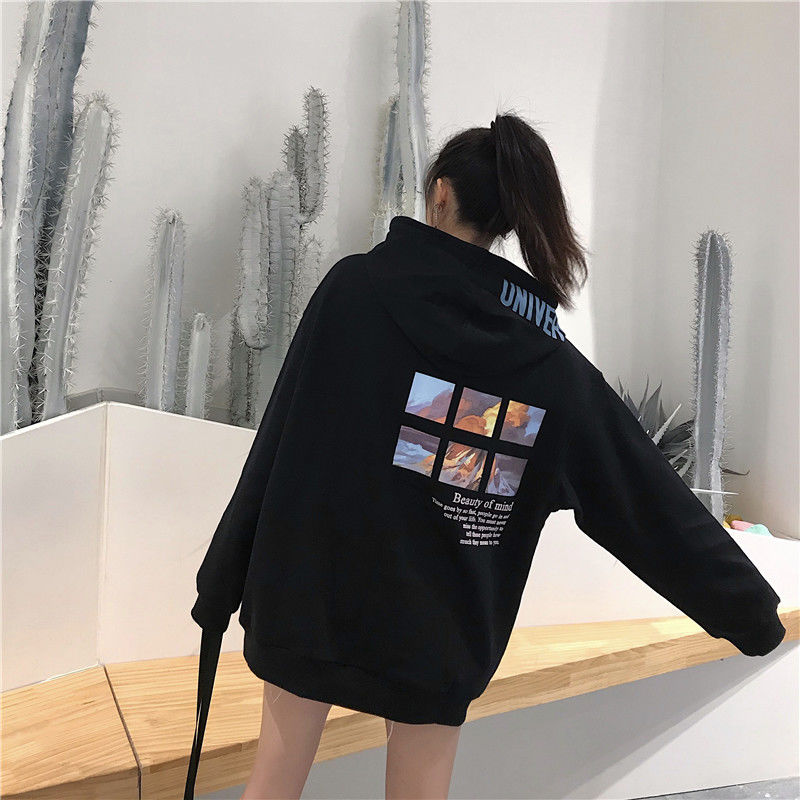 Ladies Autumn Warm Hoodies Winter Hoodie Woman Fall Clothes For Women Japanese Pullover Casual Plus Size Korean Hoodie 2019