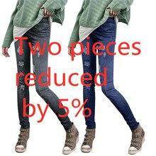 Модные женские повседневные тонкие Стрейчевые лосины из джинсовой ткани Джеггинсы узкие брюки тонкие обтягивающие леггинсы джинсы женская одежда# YL