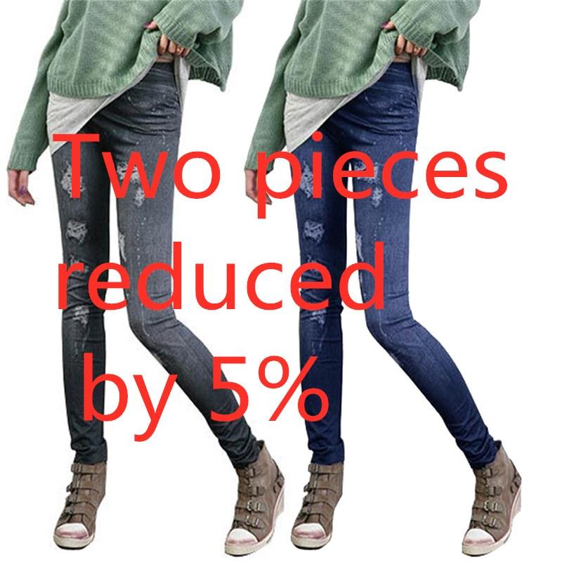 Fashion Women Casual Slim Stretch Denim Jeans   Leggings   Jeggings Pencil Pants Thin Skinny   Leggings   Jeans Womens Clothing #YL