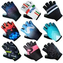 Halb Finger ITALIA Radfahren Handschuhe Herren Frauen Sommer Sport Stoßfest Bike Handschuhe Anti Slip MTB Fahrrad Handschuh Guantes Ciclismo
