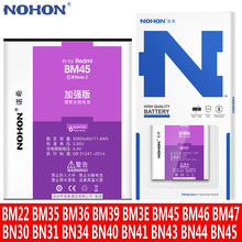 NOHON BM45 BM46 BN43 BM47 BM22 BM35 BM36 BM3E BN40 סוללה עבור שיאו mi אדום mi הערה 2 3 4 4X 4A 5A 5 בתוספת Mi 6 5X Replacment Bateria