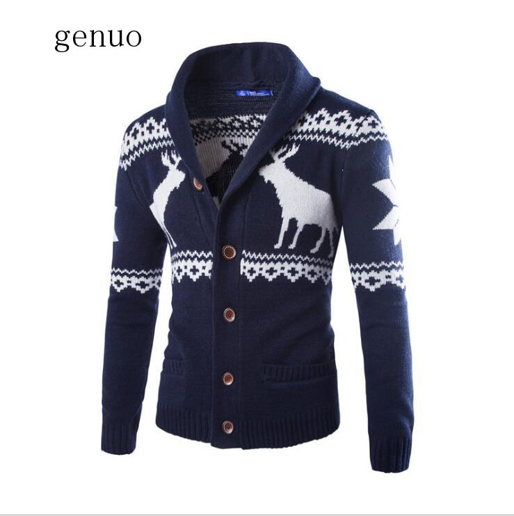 Genuo 2020 New Men Sweater  Autumn New Warm Collar Pullover Casual Sweaters