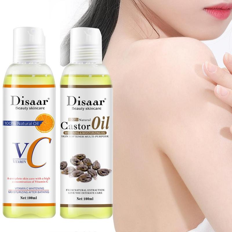 100ml Organic Essential Oil Natural Castor Vitamin C Oil For Body Relaxing Spa Massage Natural Essential Oils Skin Care