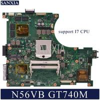 KEFU N56VM Laptop motherboard for ASUS N56VB N56VZ N56VV N56VJ original mainboard GT740M Support I3 I5 I7 CPU