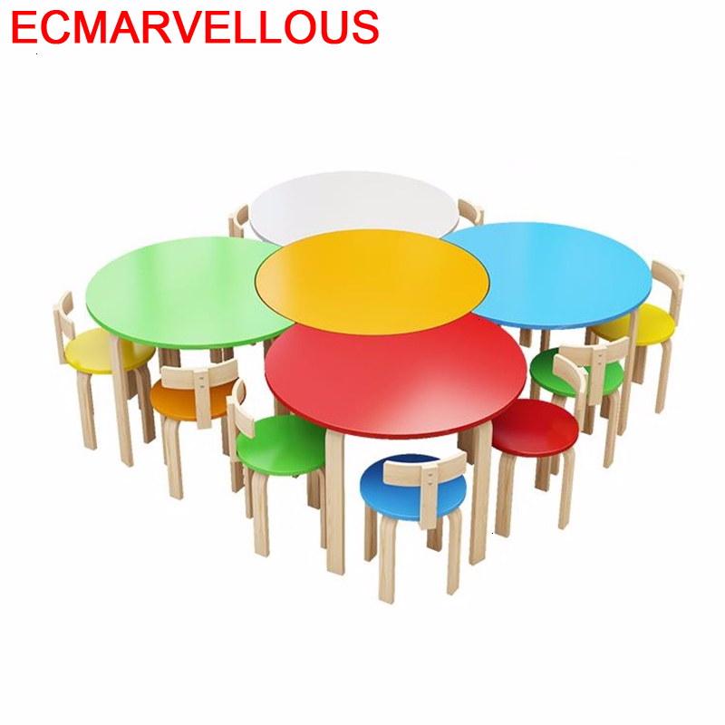 Bambini Mesa Y Silla Chair And Pour Child Desk Mesinha Infantil Kindergarten For Kids Kinder Enfant Study Children Table