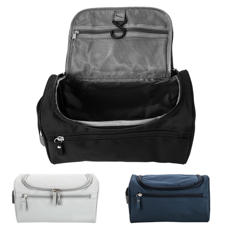 Travel Wash Bag Unisex Toiletry Organizer Shaving Cosmetic Case Waterproof Solid Cosmetic Bags