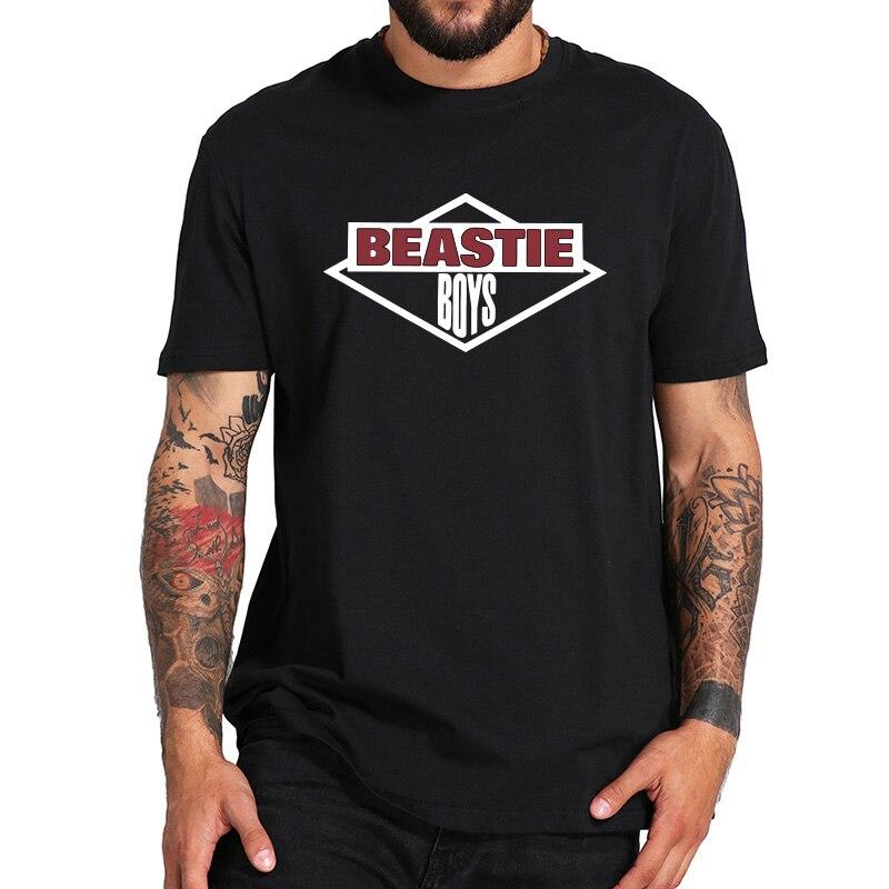 Beastie Boys T Shirt Simple Logo American Hip Hop Group T-shirt 100% Cotton EU Size Short Sleeve Camiseta