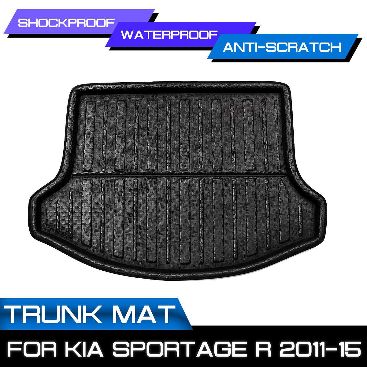 Rear Floor Trunk Cargo Boot Liner For Kia Sportage R 2011 2012 13 14 2015 Car Styling Accessories Interior Waterproof Floor Mat
