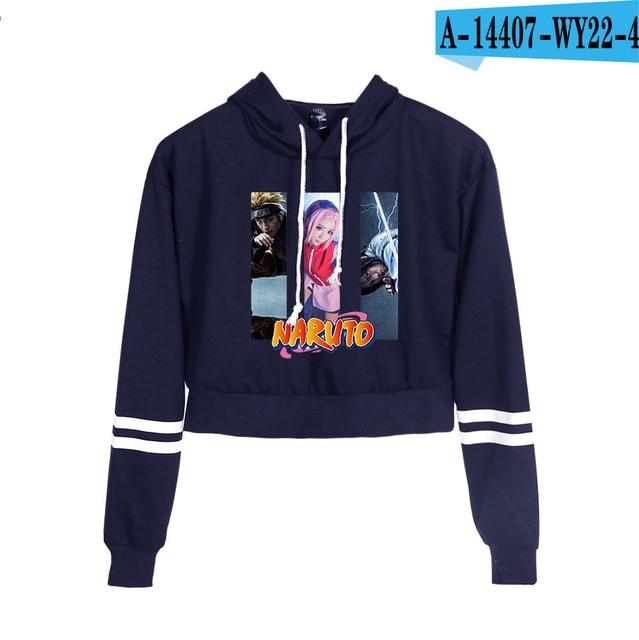 Now United Crop Top Hoodies Harajuku Japanese Anime Uzumaki Printed Hoodie Women Streetwear Fashion Cropped Sweatshirt Coat 29