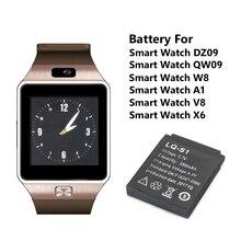 1/2/3/4/5/6/8/10 قطعة 380mAh قابلة للشحن smartwatch ليثيوم بوليمر بطارية ليثيوم أيون ل DZ09 A1 W8 QW09 V8 X6 ساعة ذكية بطارية