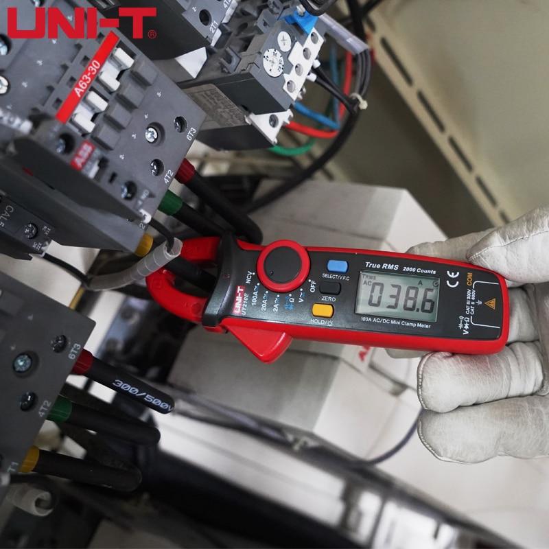 UNI-T UT210E Digital Clamp Meters True RMS Mini AC DC Current Voltage Auto Range VFC Capacitance Non Contact Multimeter Tester