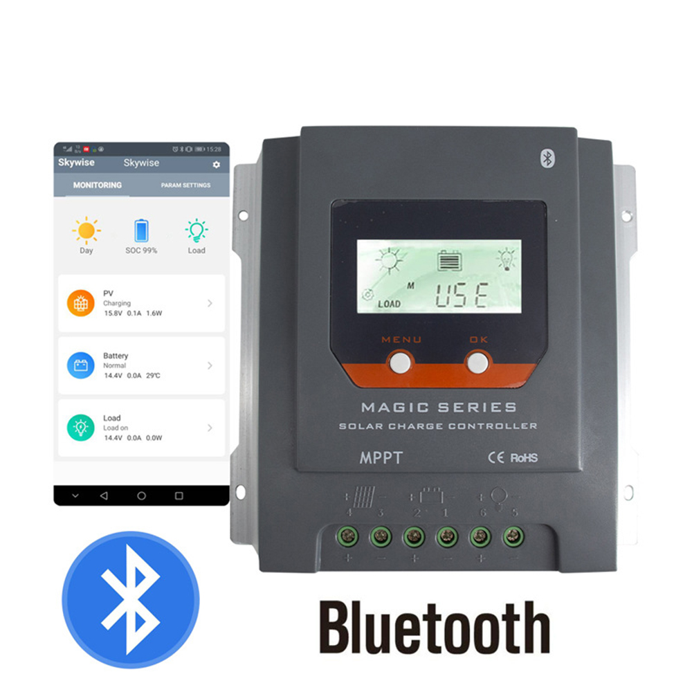 30A Solar Controller MPPT Controller 12/24 V Handy LCD display